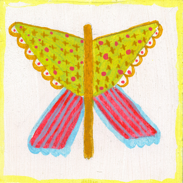 tammie bennett's xwing butterfly for her year long art project #DOZENdozen