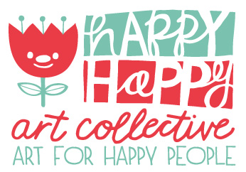 happy happy art collective logo designed by muffin grayson