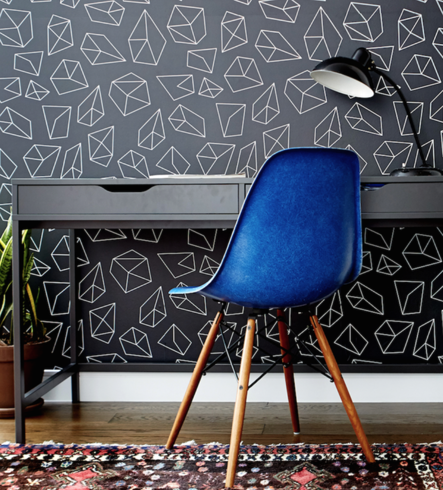 buy geometric wallpaper on chasing paper