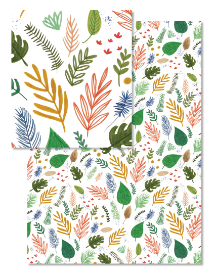 floral wrapping paper design for minted @tammie bennett