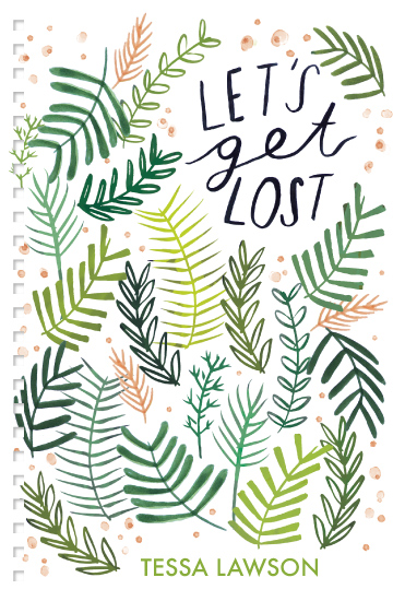 hand lettered let's get lost plant print notebook ©tammie bennett