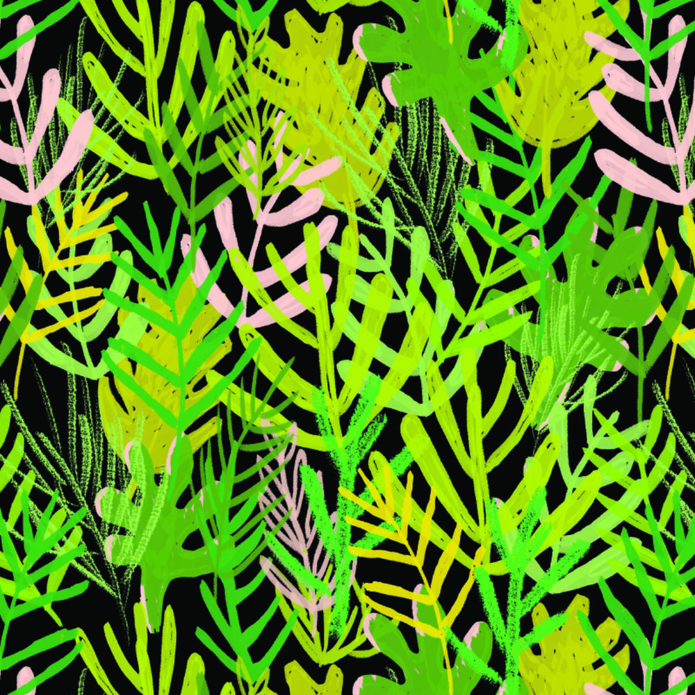 jungle fern pattern - personal work
