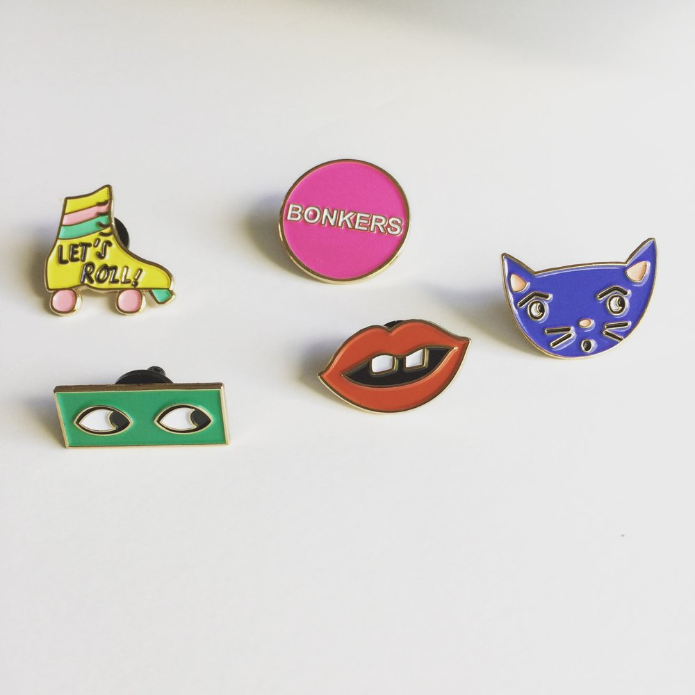 my latest enamel pins - personal project