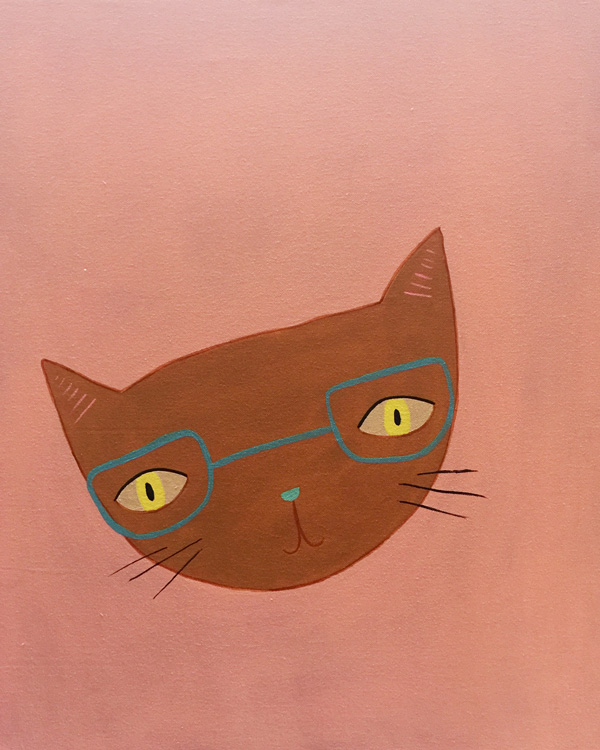 cat in glasses - personal project
