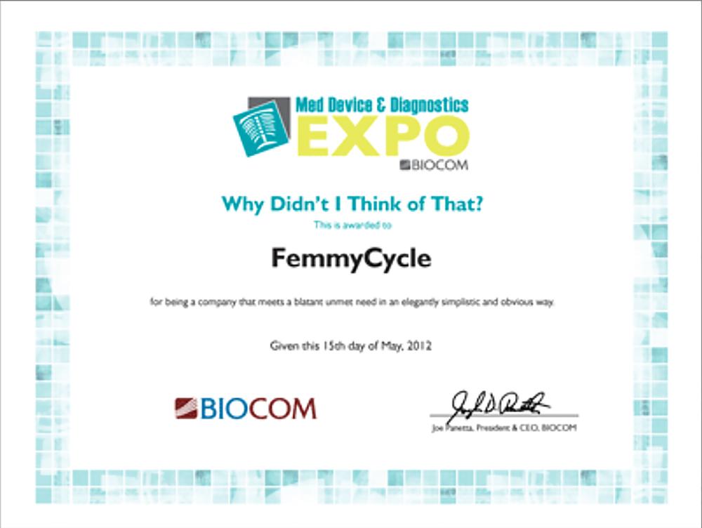 Награда Престижной Выставки БиоКом 2012