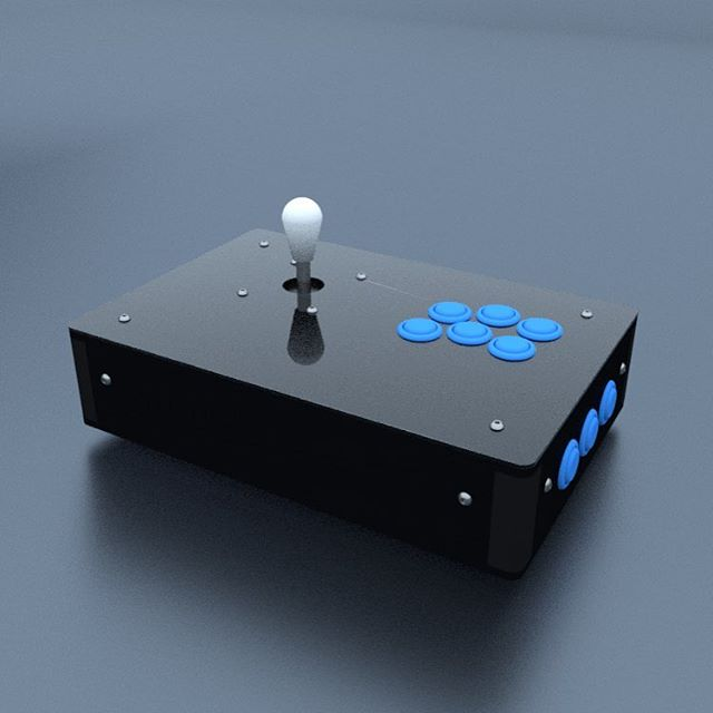 Renders of the CAD file. Laser cut all the things 👉www.cuddleburrito.com #raspberrypi #custom #frame #retropie #cuddleburrito #digital #arcade #arcadegames #fightstick #gamerguy #gamergirl #rpi #maker #videogames #joystick #button