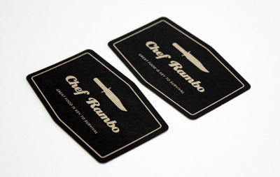 Chef Rambo Business Card 350gsm - Die Cut