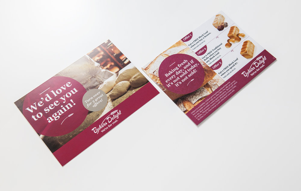 Bakers Delight Bounce Back Cards Arcadia 300gsm