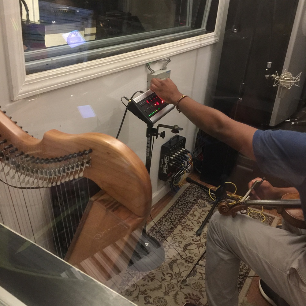6/20/16 Session 3 - Recorded Harp, Piano, Violin, Bass, and Logic.