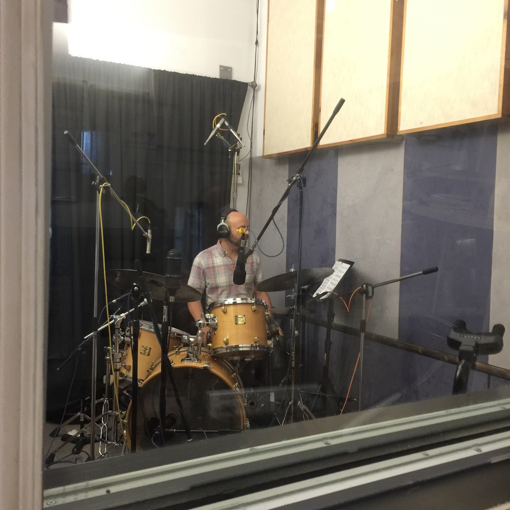 recording Yamaha Maple Custom in the drum room