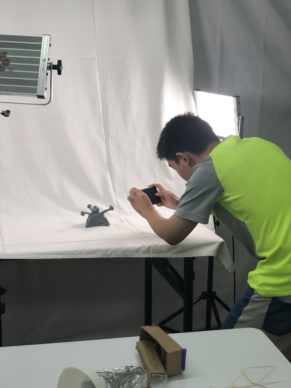 Pop-up photo studio