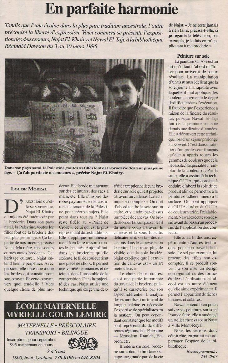 Journal de VMR: En Parfaite Harmonie - Mach 1995