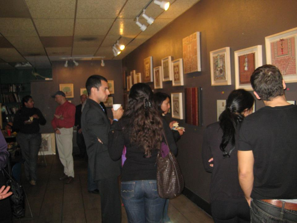 Exhibit at Ibrahim Nashabibi's Fairuz Cafe - San Diego - November 2012