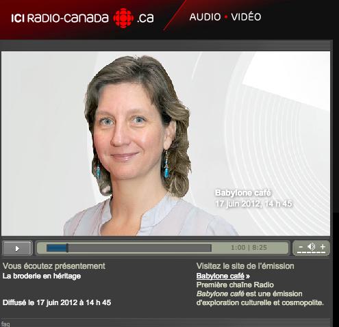 La broderie en héritage - Babylon Cafe  - IciRadioCanada.ca - 17 Juin 2012 à 14:45