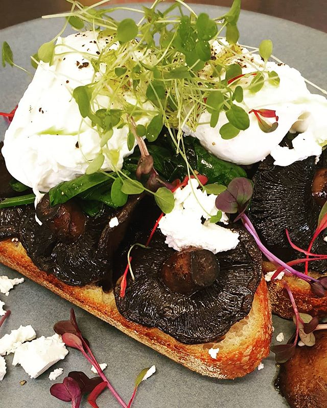 This weekends special is beautiful garlic mushrooms with fetta, spinach, sourdough toast and two poached eggs 🤤😍 #sydney #easternsuburbs #cafe #mushrooms #iggys #yum #brunch #lunch #weekend #garlic