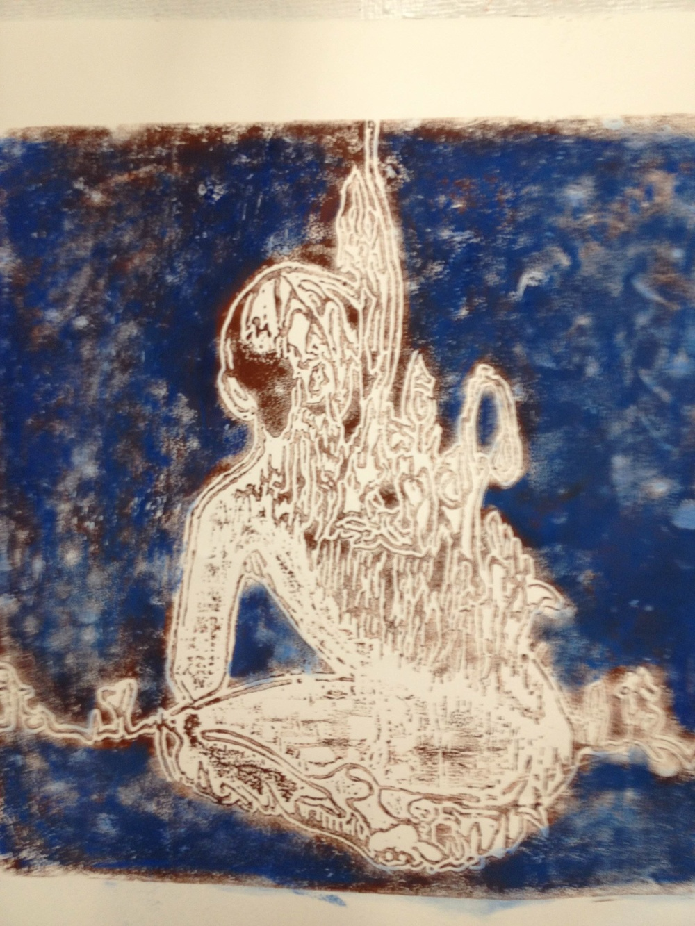 Annalisa Barron ,  In That Water  (woodcut on paper)