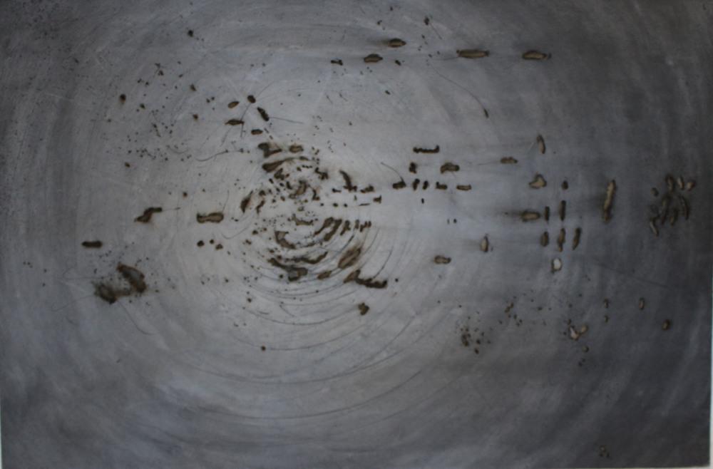 Annalisa Barron ,  Myopia (burnt charcoal on paper)