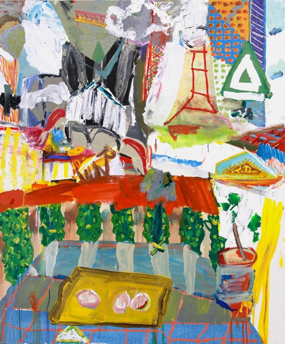 Daniel Herr , Breakfast of NGO's (oil on canvas)