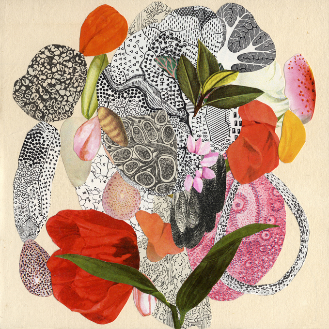 Valerie Roybal  ,   Transmutation 5   (collage)