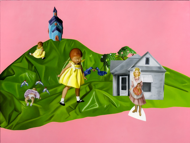 Julie Farstad  ,  Prairiesummerheartbreak  (oil on canvas on board)