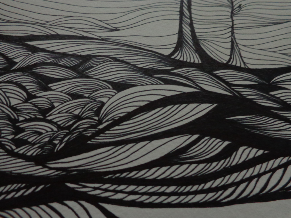 Lora Vahlsing , Landscape (sharpie marker on paper)