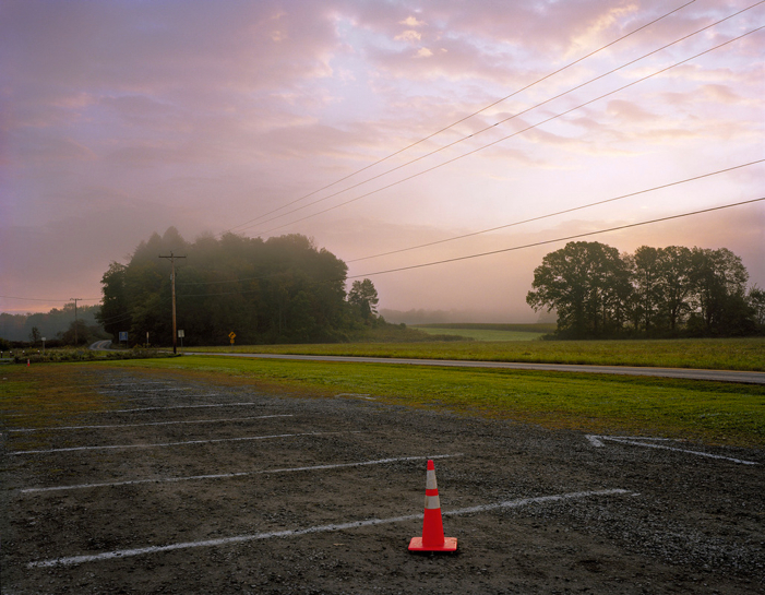 Peter Croteau, Parking Lot (Morning Fog), 2009