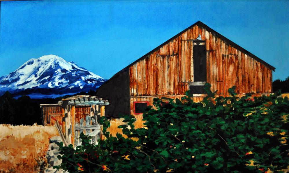 Elizabeth Pelley, Barn (oil on canvas)