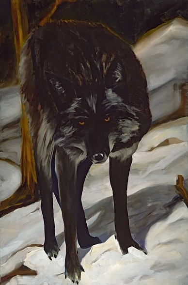 Shannon Estlund, Wolf (oil on canvas)