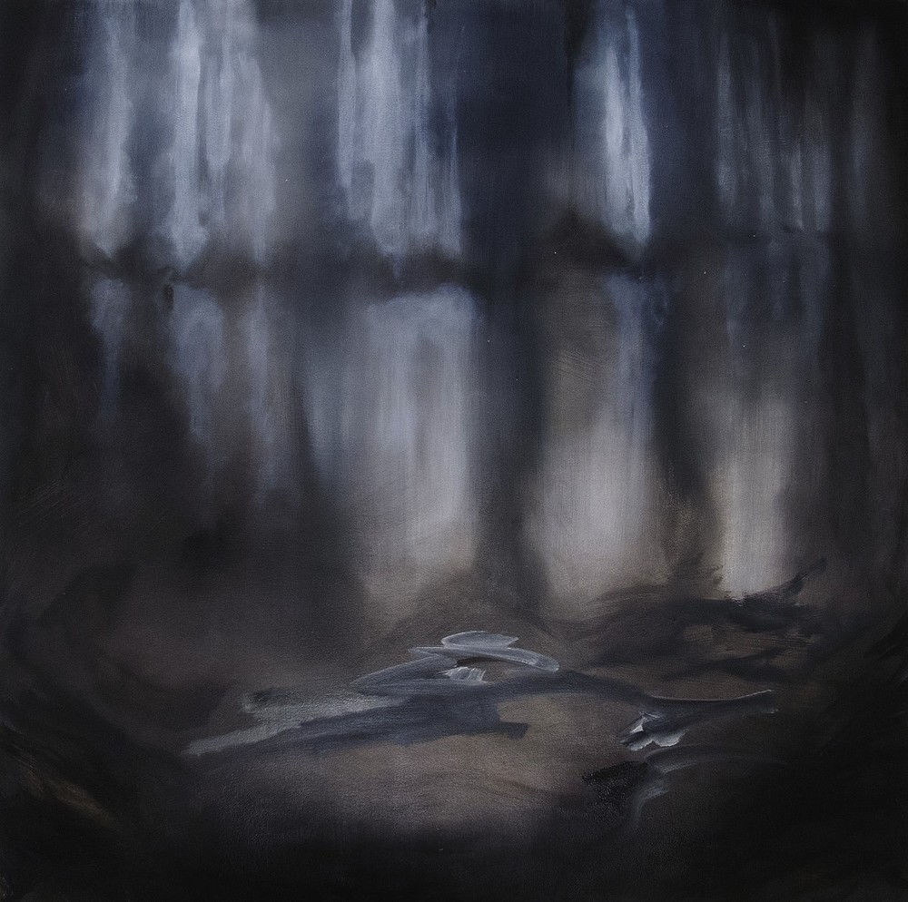 Shannon Estlund, Under (oil on panel)