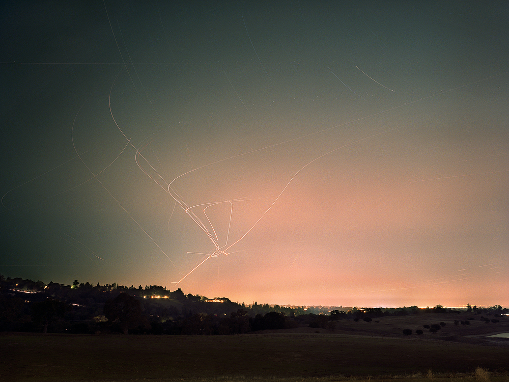 Ashley Valmere Fischer ,    Light Trails: Portola Valley Cluster  (photograph)