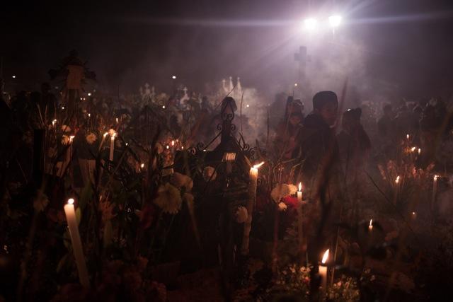 Diego Enrique Flores ,Día de los Muertos,San Andrés Mixquic, Mexico    (photograph)