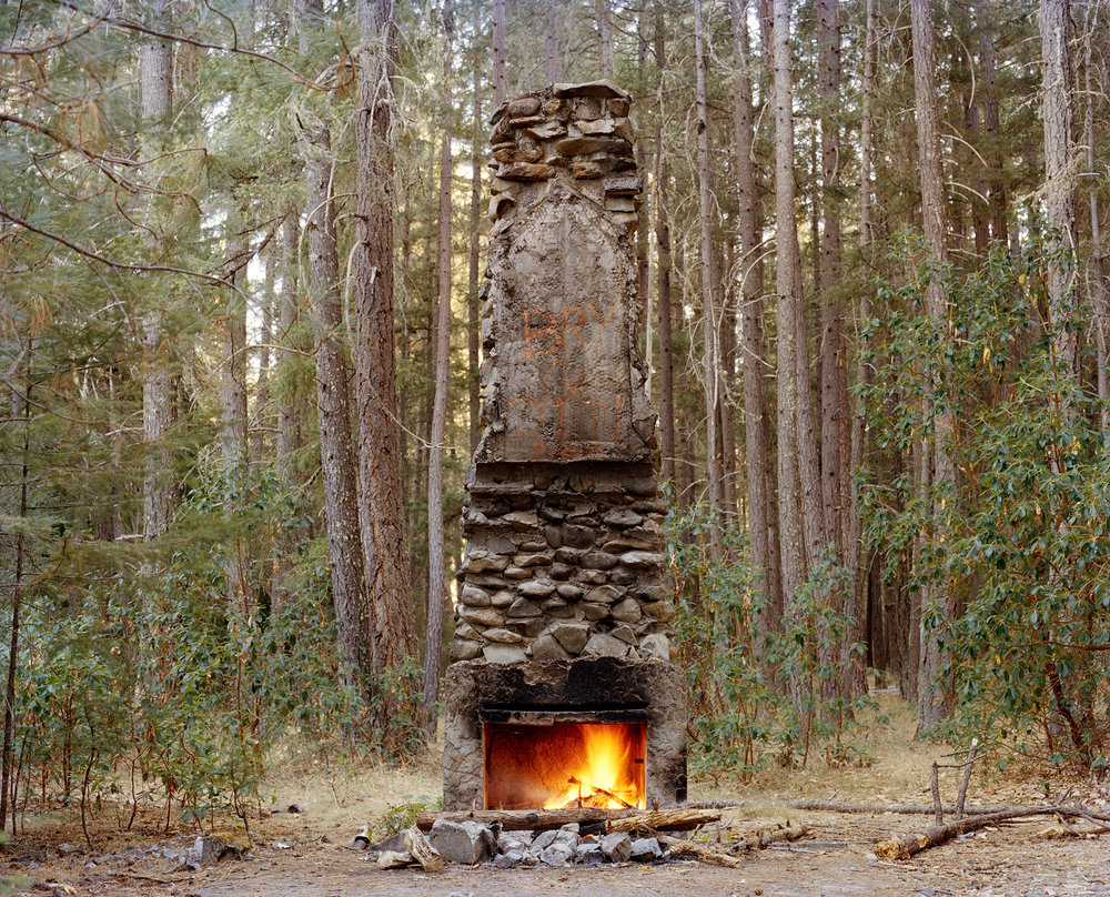 Ashley Valmere ,  Fireplace in the Forest  (photograph)
