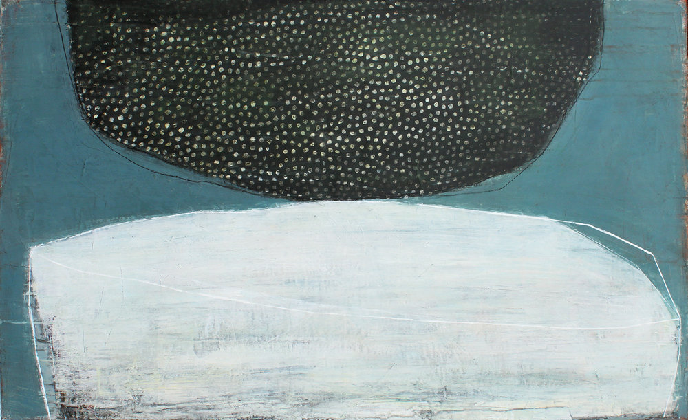 Karine Leger, La Tombée de la Nuit (acrylic on canvas)