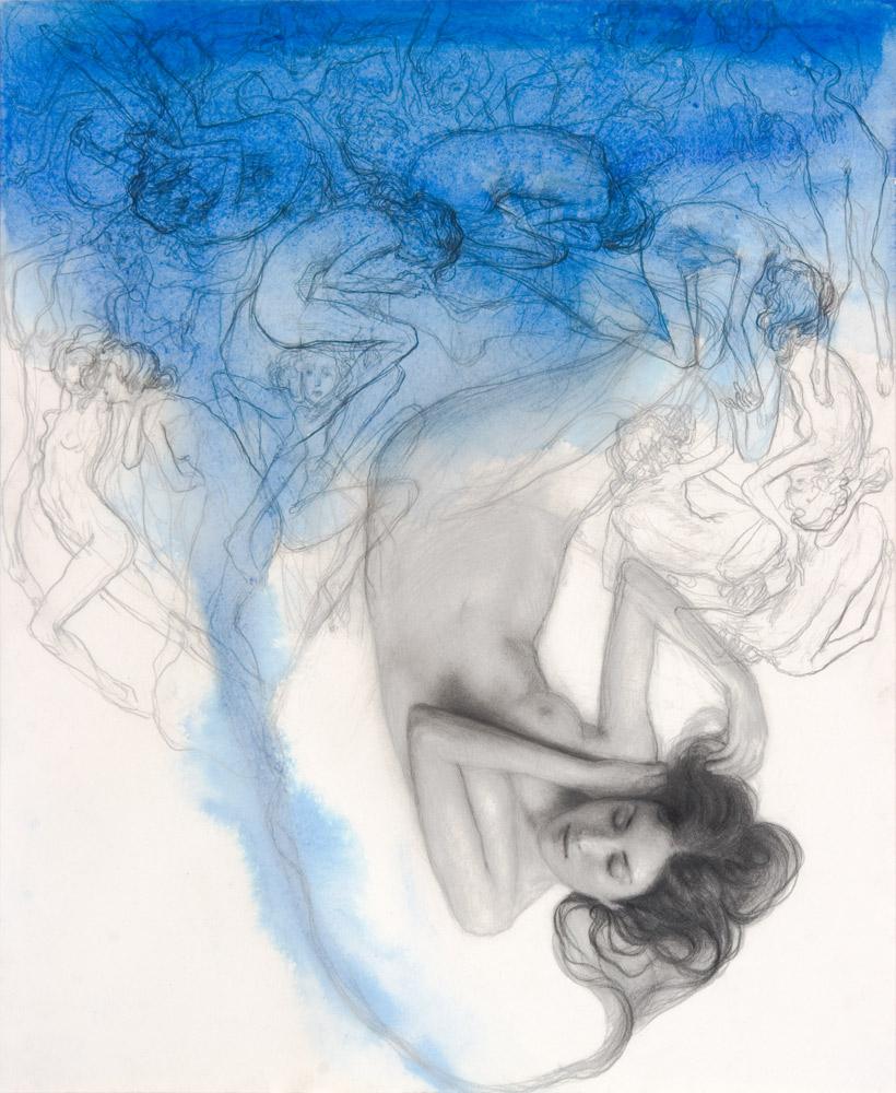 Dorian Vallejo ,  Dream Study , 2009 Mixed media on handmade paper
