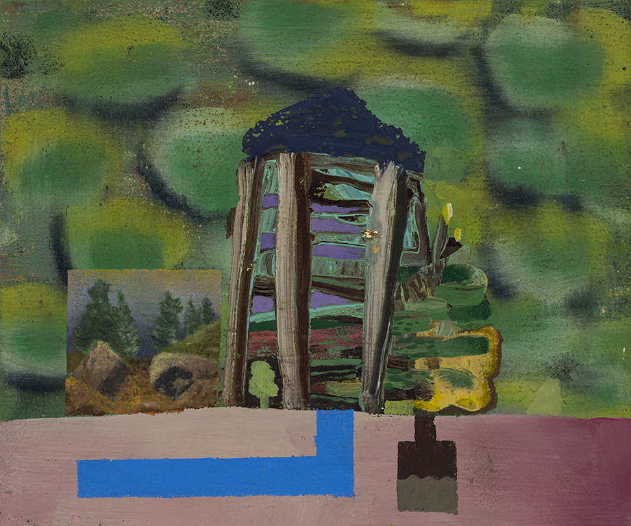"David LaFrance ,  Earthship 10 , 2015 ( Artist Website ,  Gallery Website ) Oil on panel 6"" x 8"""