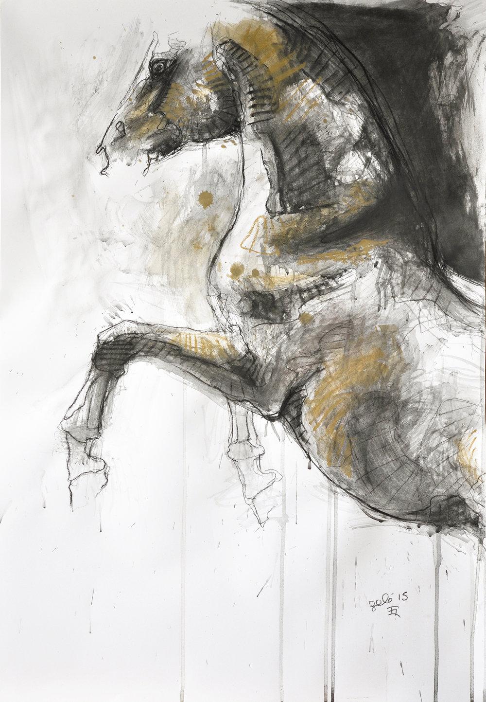 Bénédicte Gelé ,  Nu Equin 1P  ( Artist Website ,  Etsy ) Watercolor on paper