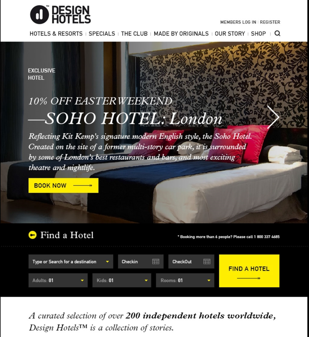 DesignHotels I Translating a business into an experience