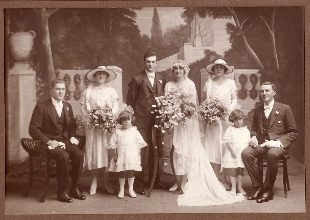 Uridge Webb wedding photo 1922
