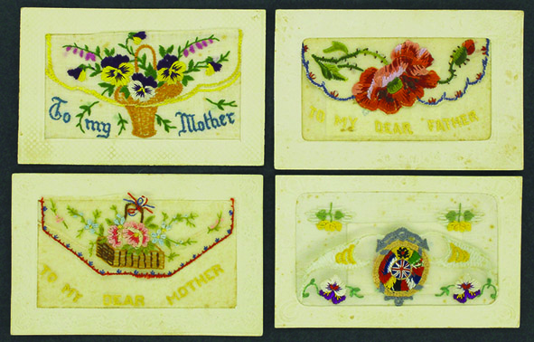 A group of postcards sent by Rubin from France  to his mother in Exeter in 1917 Collection: Berrima District Museum Acc ID: 1974 .001 .002 .003 and .004