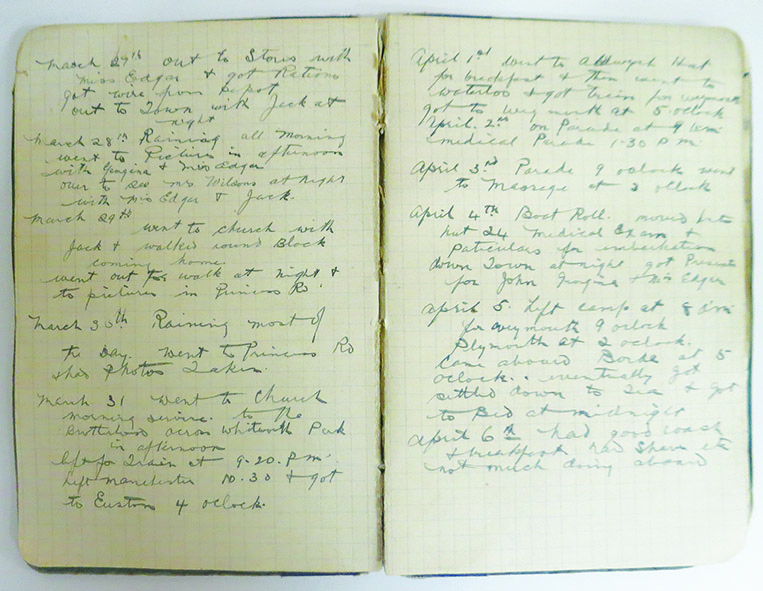 Rubin's diaries from his time in France  1917-1918 You can also read extracts from Rubin's diaries, see certifcates, citations  and copies of his military record on the iPads. On loan from the Australian War Memorial PR84/190