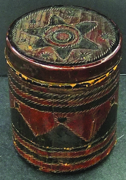 Tobacco case brought back by Nellie from Egypt  as a gift for her brother, Wilson Holt Morrice