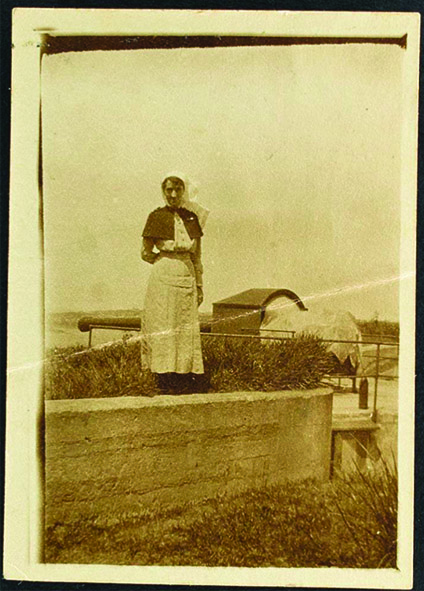 Photo of Nellie Morrice taken by 'Frank' while on active duty overseas, location unknown
