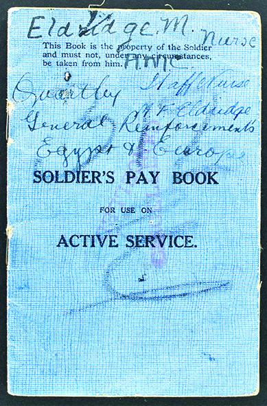 Margaret Eldridge's pay book