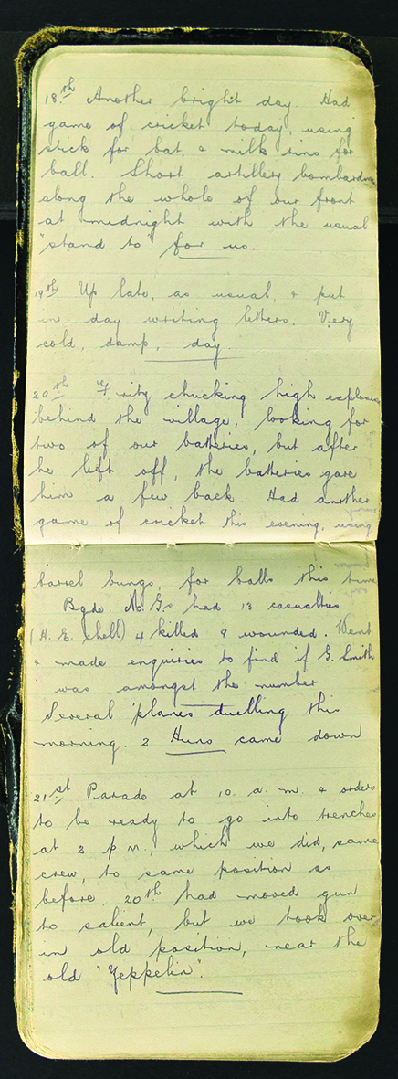 War diary kept by Eric Eldridge