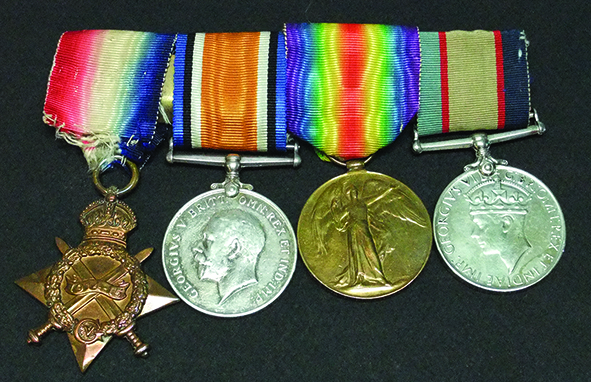 Frank's WWI and WW2 medals: 1914-15 Star, British War Medal, Victory Medal and Australia Service Medal 1939-45