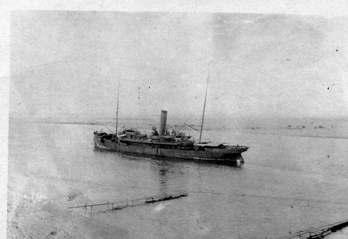 Steamer thru Suez Canal