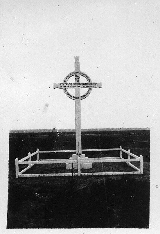 4th Battalion memorial Pozieres