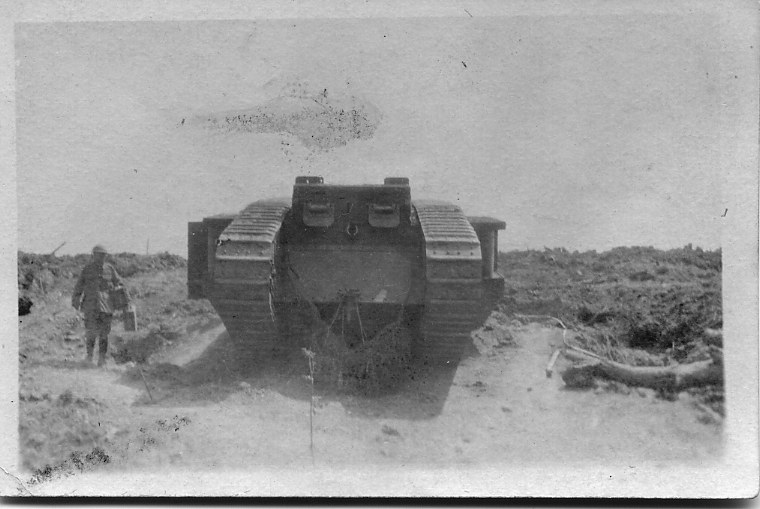 Tank out of action Messines Jun 1917