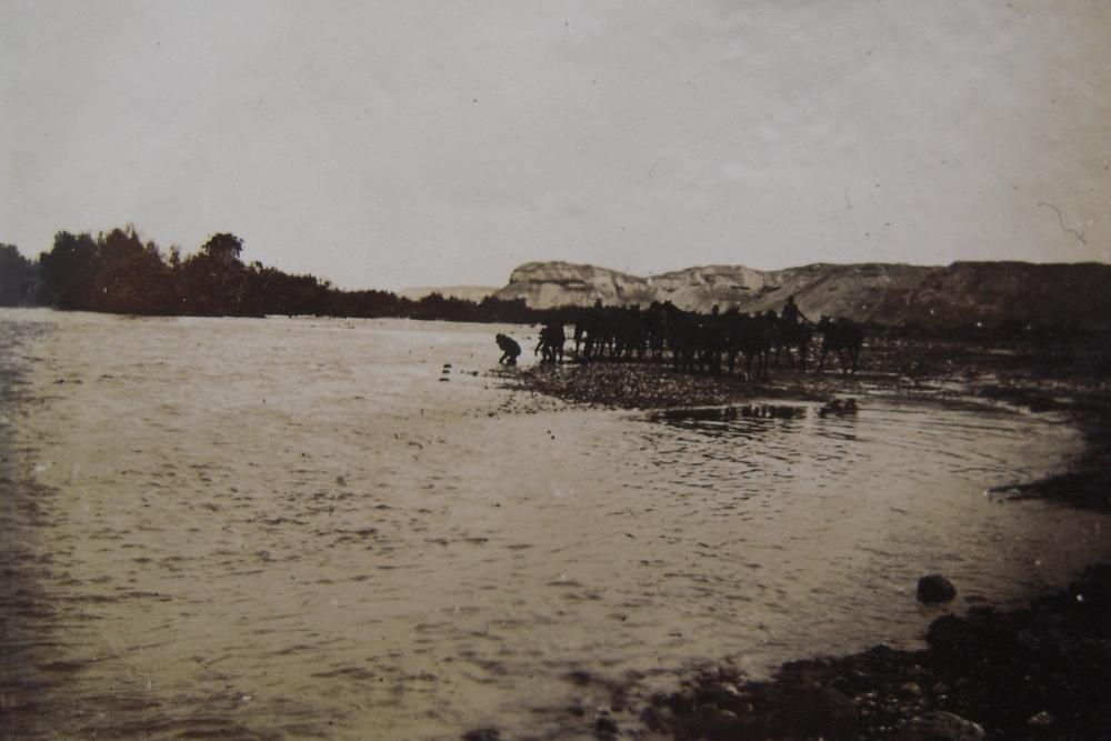 Watering horses Jordan River