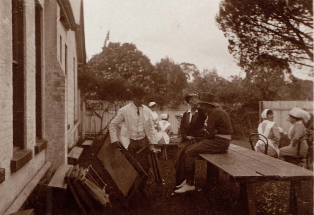 Patients & Nurses at Burradoo Convalescent Hospital